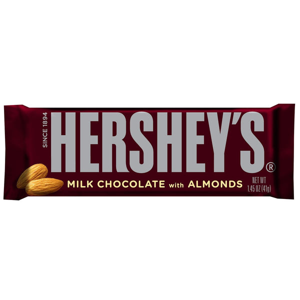 Hershey's Milk Chocolate With Almonds Bars 1.45 oz (36 Count)