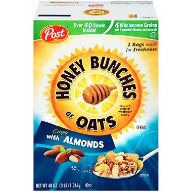Post Honey Bunches of Oats with Crispy Almonds (48 oz.)  2 Bags Inside