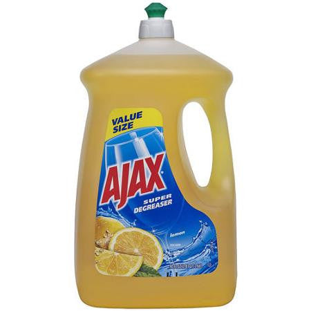 Ajax Super Degreaser Lemon Dishwashing Liquid, 90 fl oz