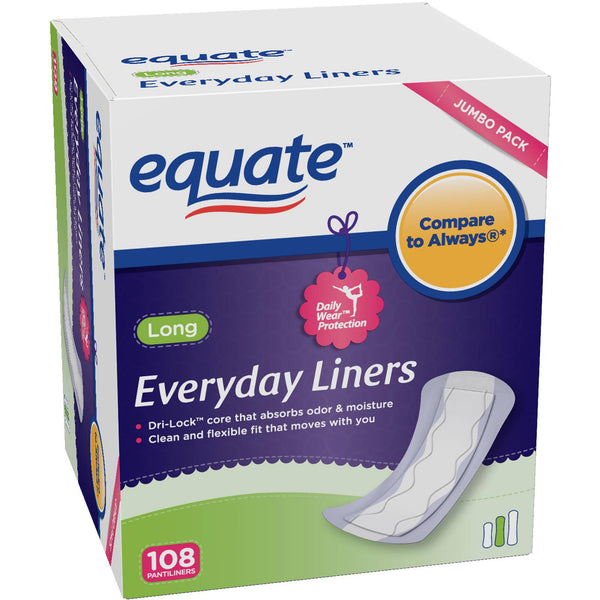 Equate Everyday Long Panty Liners (108 Count)