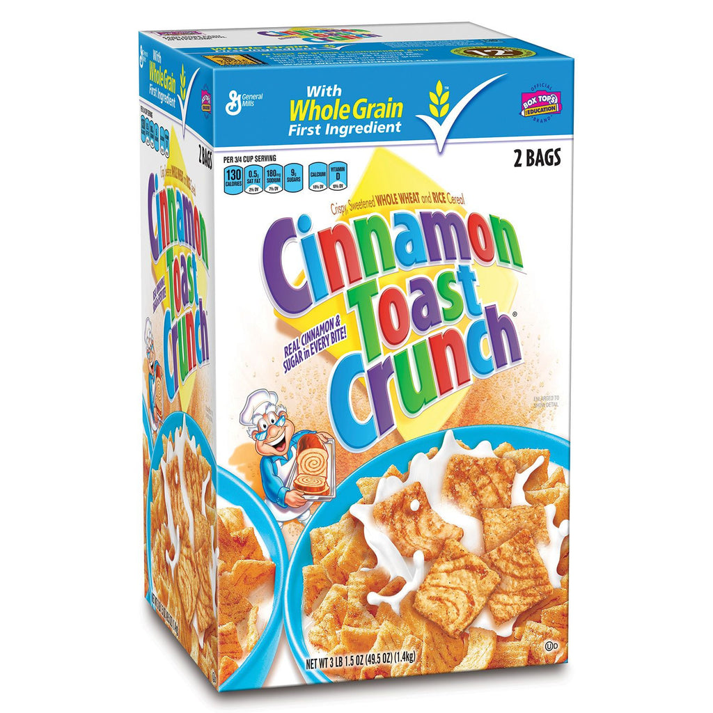 General Mills Cinnamon Toast Crunch Cereal (49.5 oz.) 2 Bags Inside