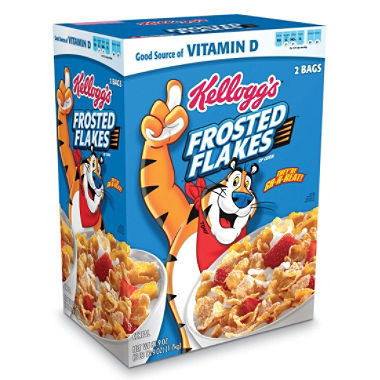 Kellogg's Frosted Flakes Cereal (61.9 oz.)  2 Bags Inside