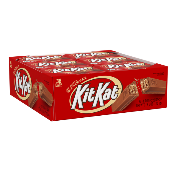 Kit Kat Chocolate Candy Bar - 36 Count (1.5 oz)