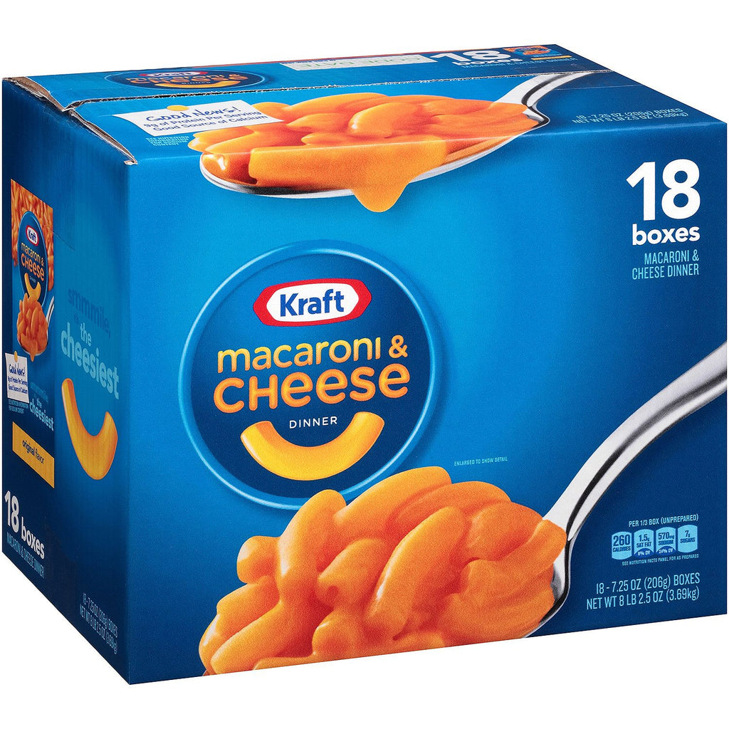 Kraft Macaroni & Cheese Dinner (Choose Size) - Single or 18 Count