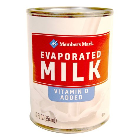 Member's Mark Evaporated Milk - 12 oz. can Choose Size: (Single or 10 Pack)