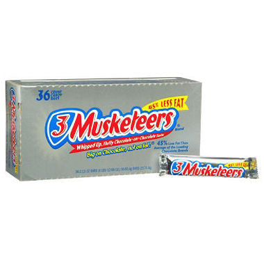 3 Musketeers Chocolate Candy Bar (1.92 oz., 36 Count)