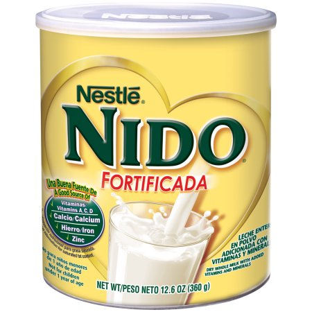 Nestle Nido Fortificada Dry Milk Canister 12.6 oz or 56.3 oz