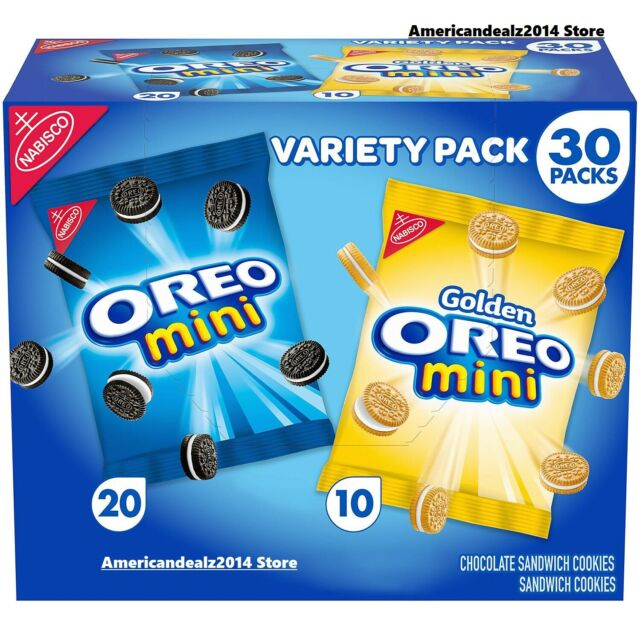 OREO Mini Chocolate Sandwich Cookies Snack Packs - 30 Packs (1.5oz)