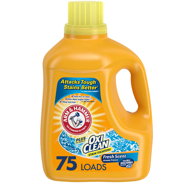 Arm & Hammer OxiClean Fresh Scent Liquid Laundry Detergent (Choose Size)