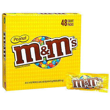 M&M's Peanut Chocolate Candy (1.74 oz., 48 Count)