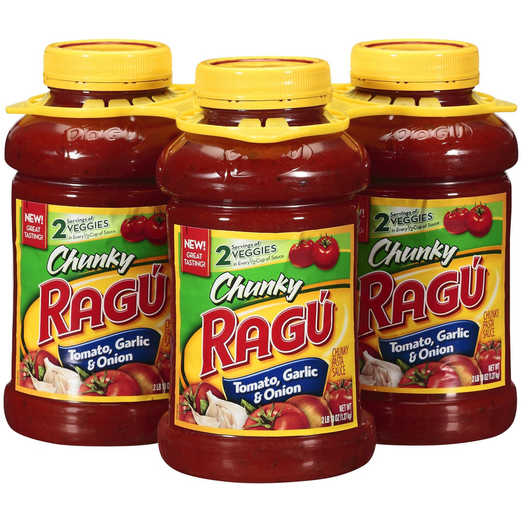 Ragu Chunky Tomato, Garlic & Onion - (3) 45 oz. Jars