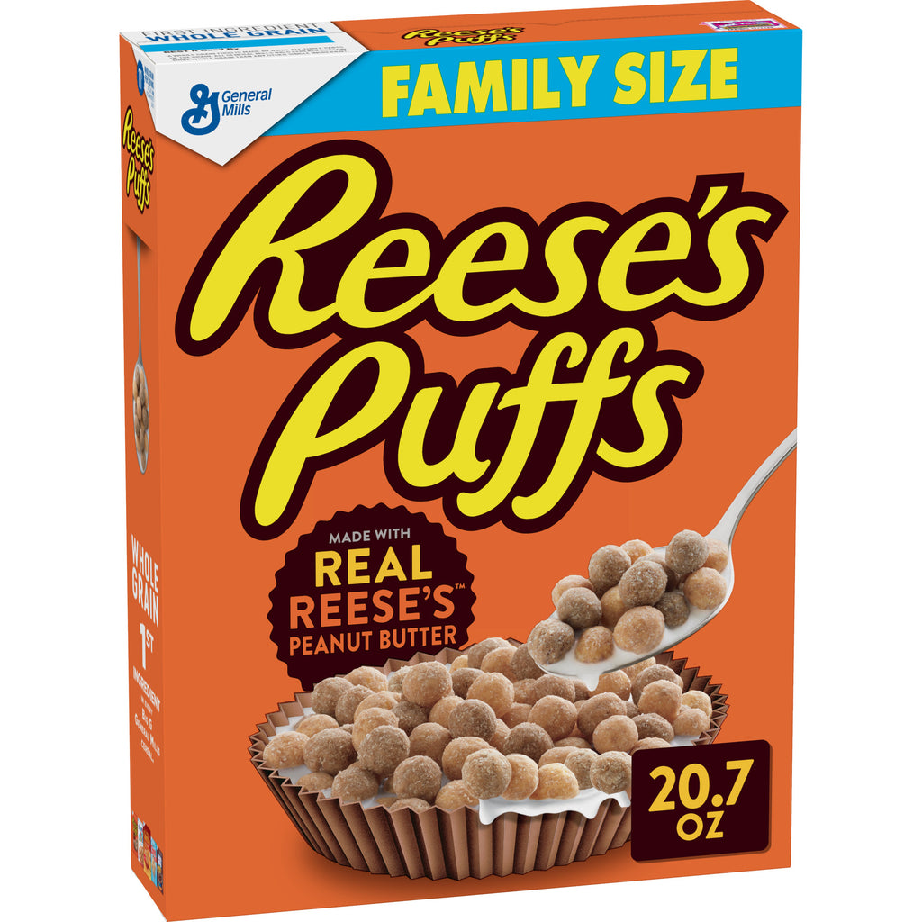 General Mills, Reese's Puffs Breakfast Cereal, Peanut Butter, Family Size, 20.7 oz