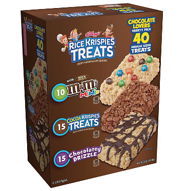 Kellogg's Rice Krispies Treats, Variety Pack (40 Count)