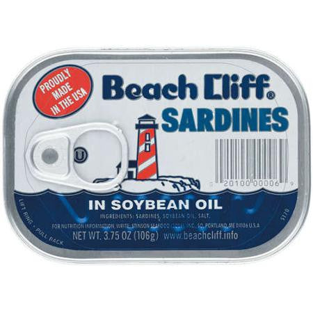 Beach Cliff Sardines in Soybean Oil 3.75 oz