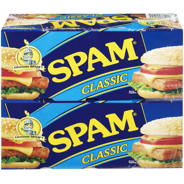 Spam Classic - (8 Count) 12 oz Can (Choose Size) 4 Pack or 8 Pack