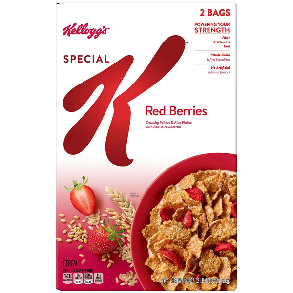 Kellogg's Special K Red Berries Cereal (2 Bags inside - 43 oz.)