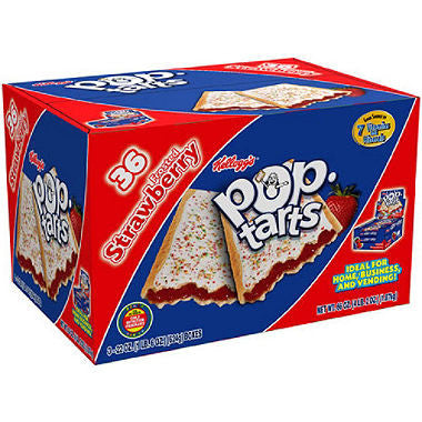 Kellogg's Pop Tarts Frosted Strawberry - 36 ct