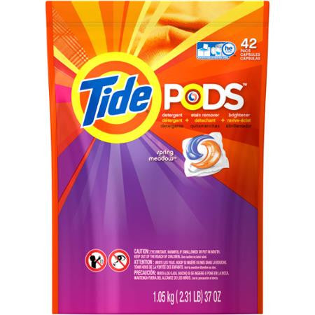 Tide PODS Laundry Detergent Spring Meadow Scent, 42 Count