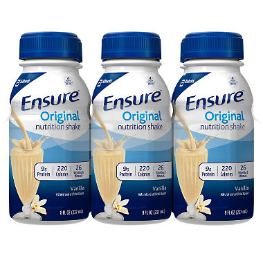 Ensure Original Nutrition Shake Ready-to-Drink Meal Replacement Shakes (8 fl. oz., 24 Count) - Choose Flavor
