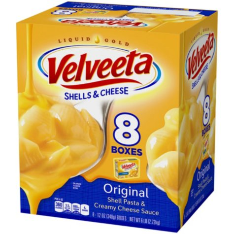 Velveeta Original Shells & Cheese (12 oz., 8 Pack)