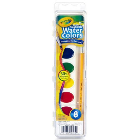 Crayola 8 Count Watercolor Paint Pans