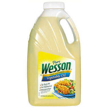 Pure Wesson Vegetable or Canola Oil - 1.25 gallon (Choose Flavor)