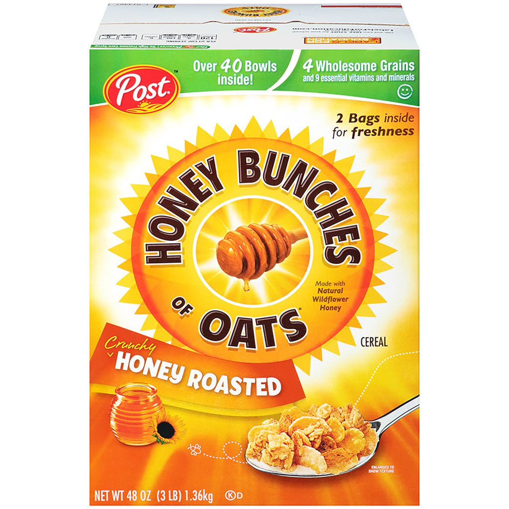 Post Honey Bunches of Oats Honey Roasted Cereal (48 oz.) 2 Bags Inside