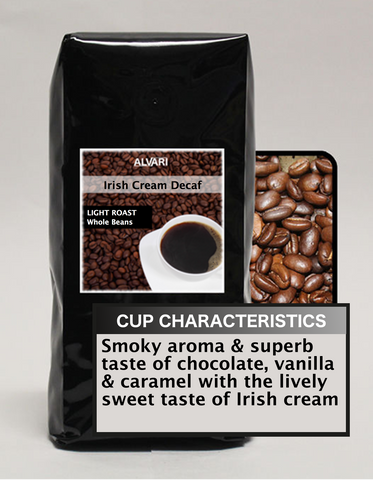 ALVARI Irish Cream Decaf Coffee