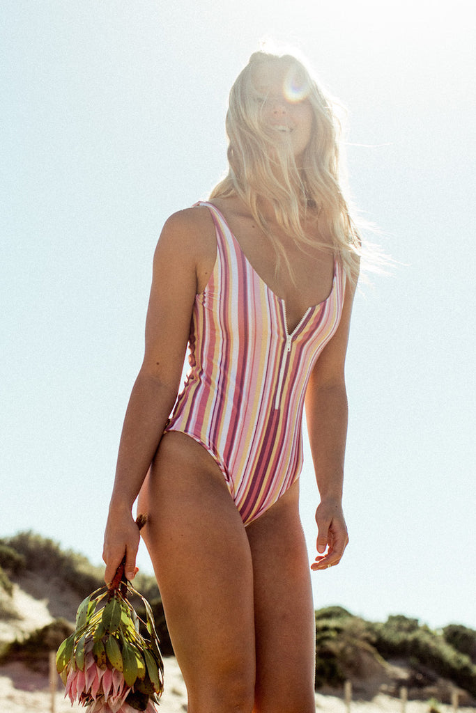 Minca One Piece in Vintage Stripe