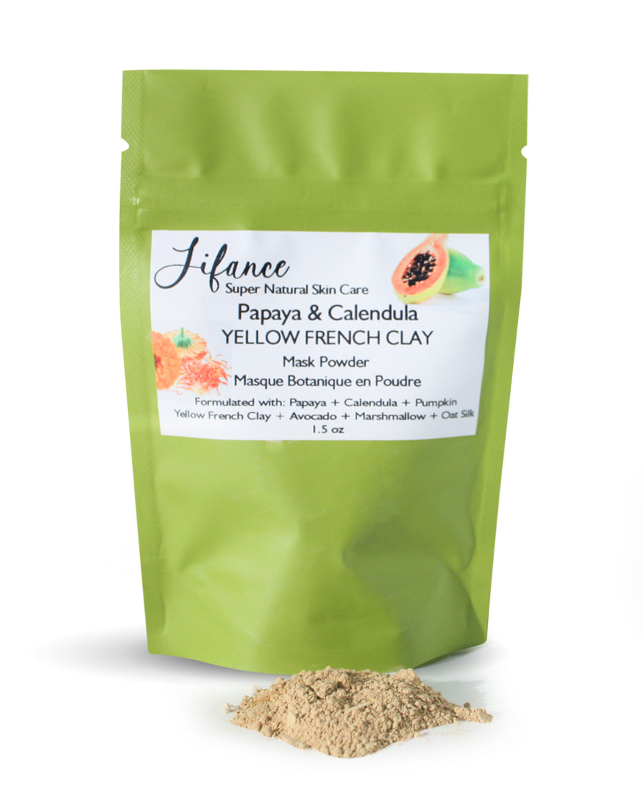 Papaya & Calendula Powder : Yellow French Clay Mask 1.5 oz