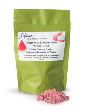 DRAGON FRUIT & WATERMELON White Clay Creamy Cleansing Powder 1.5 oz