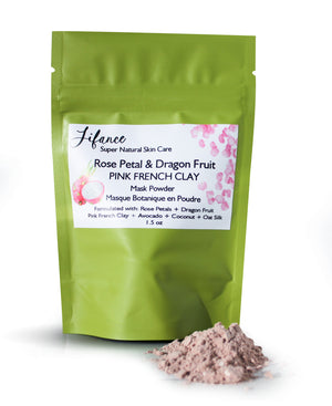 Rose Petal & Dragon Fruit Powder: Pink French Clay Mask