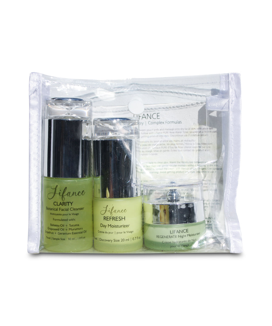 ESSENTIALS Discovery | Travel Set - LIFANCE Super Natural Skin Care   Clean Chemistry | Complex Formulas