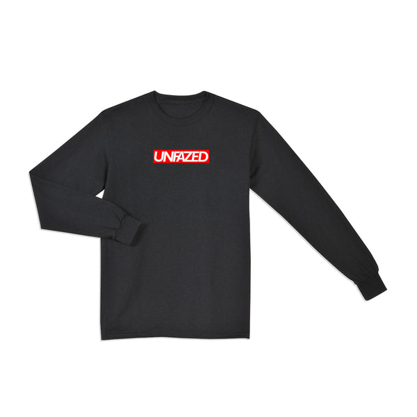 Unfazed - Black Box Logo Tee