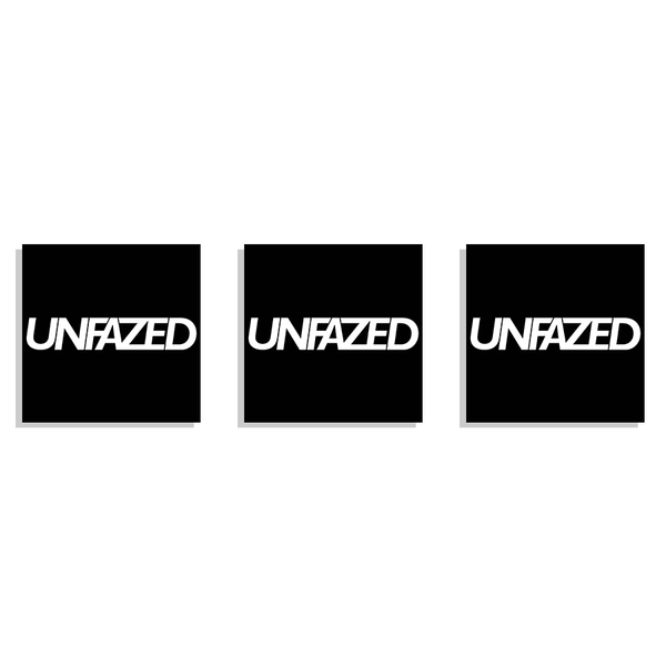 Unfazed - Box Logo Decal
