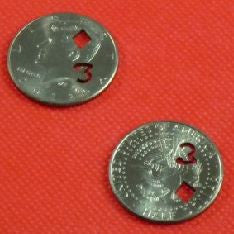 3 of Diamonds - Half Dollar Coin