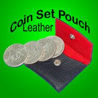 Coin Set Pouch - Leather