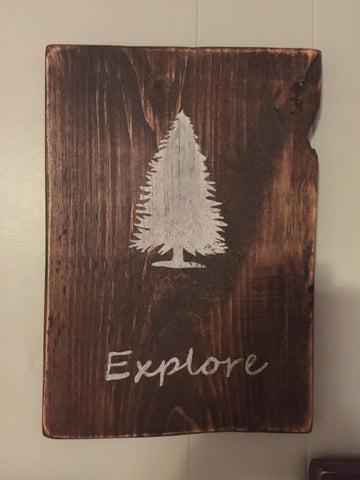 Explore-woodland wall art