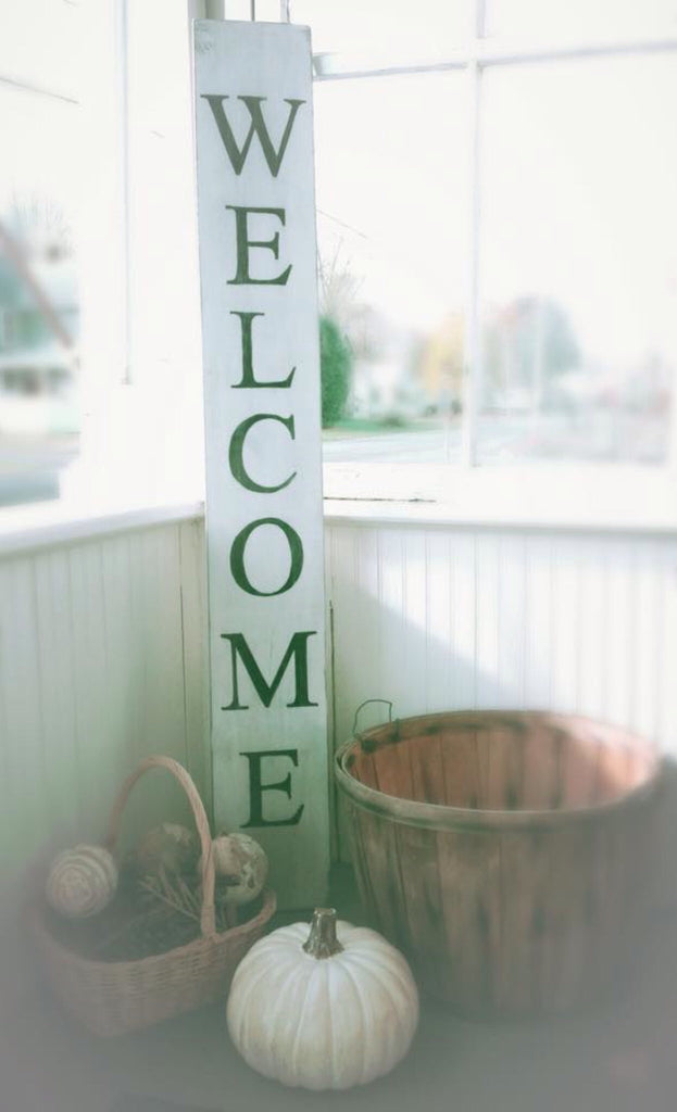 Large welcome sign