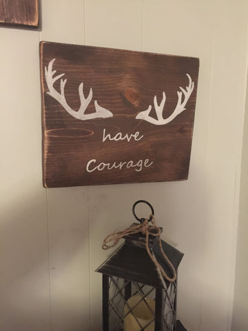 """Have courage"" woodland wall art"