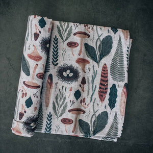 Organic Swaddle, Neutral Woodland Collection