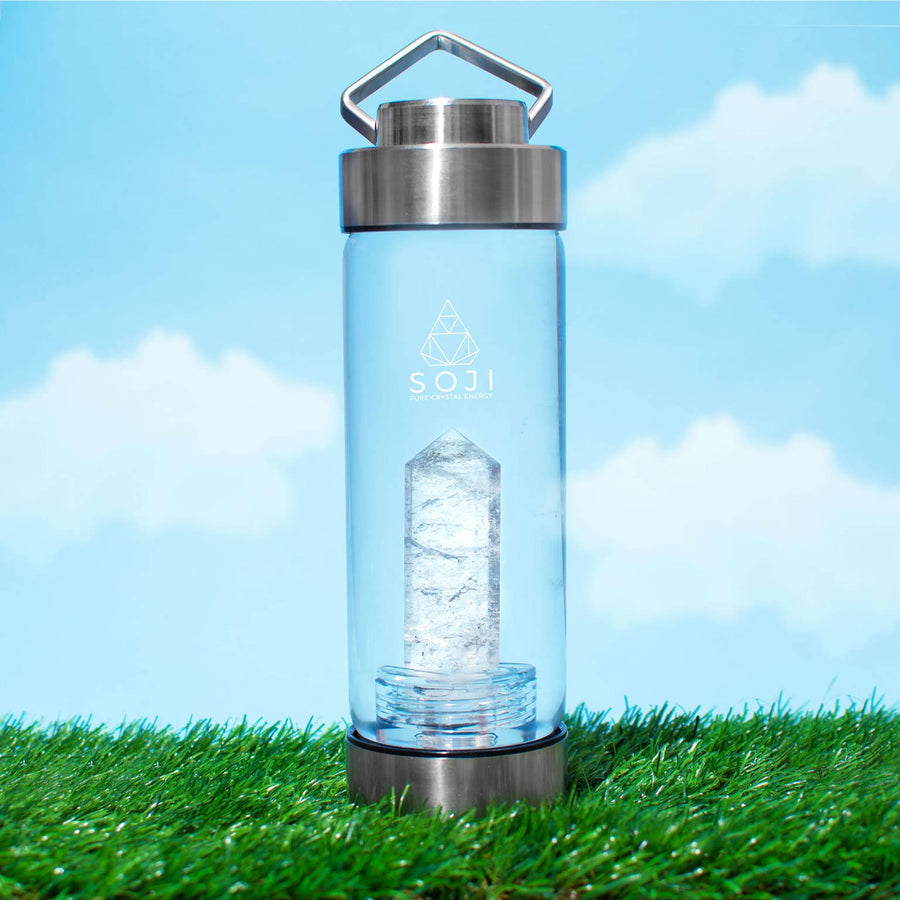 Crystal Elixir Glass Water Bottle