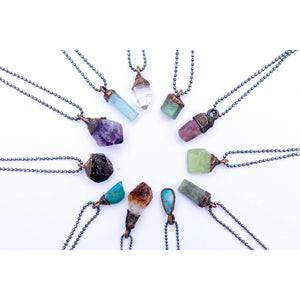 Raw Crystal Birthstone Necklace
