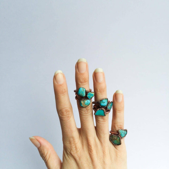 Raw Turquoise Stacking Ring