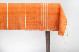 ADDIS COTTON TABLECLOTH - PAPAYA