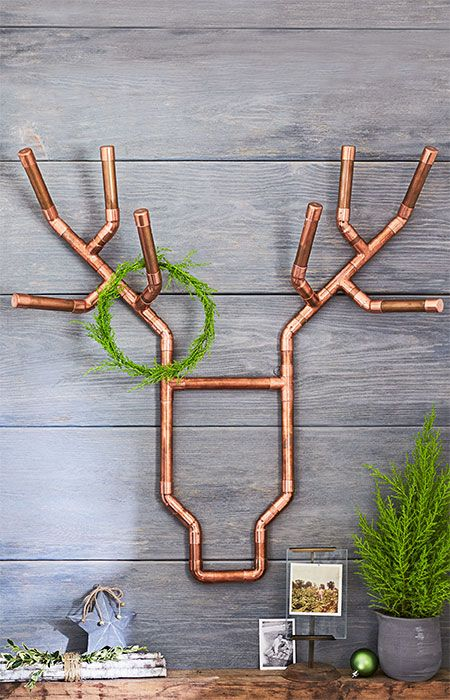 Copper Reindeer Wall Decor