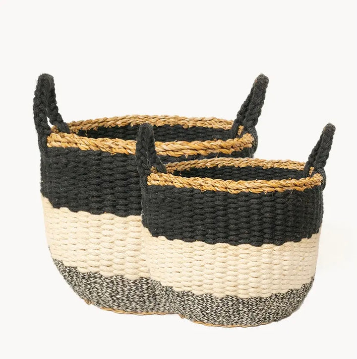 Ula Stripe Baskets (Set of 2)