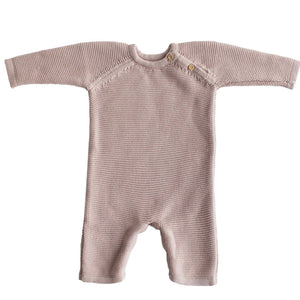 Organic Cotton Classic Knit Short Baby Romper 0-6 Months