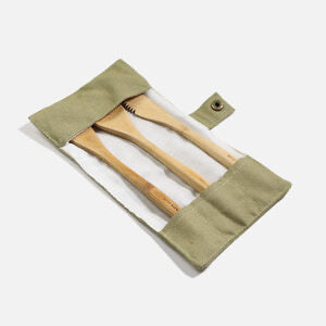 Bamboo Travel Cutlery Set