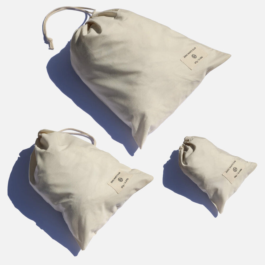 Organic Cotton Produce Bags - Pack of 9